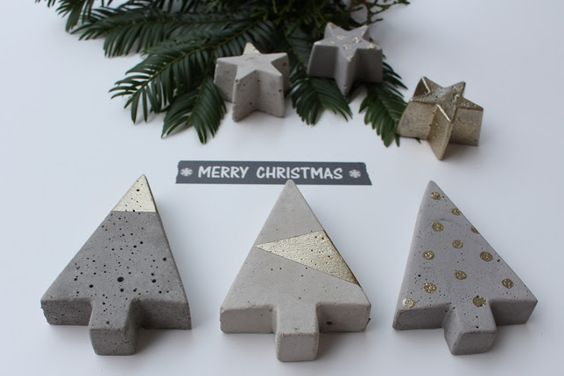 4 feriados: DIY: estrelas concretas