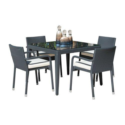 Outdoor Dining Set With Sunbrella Cast