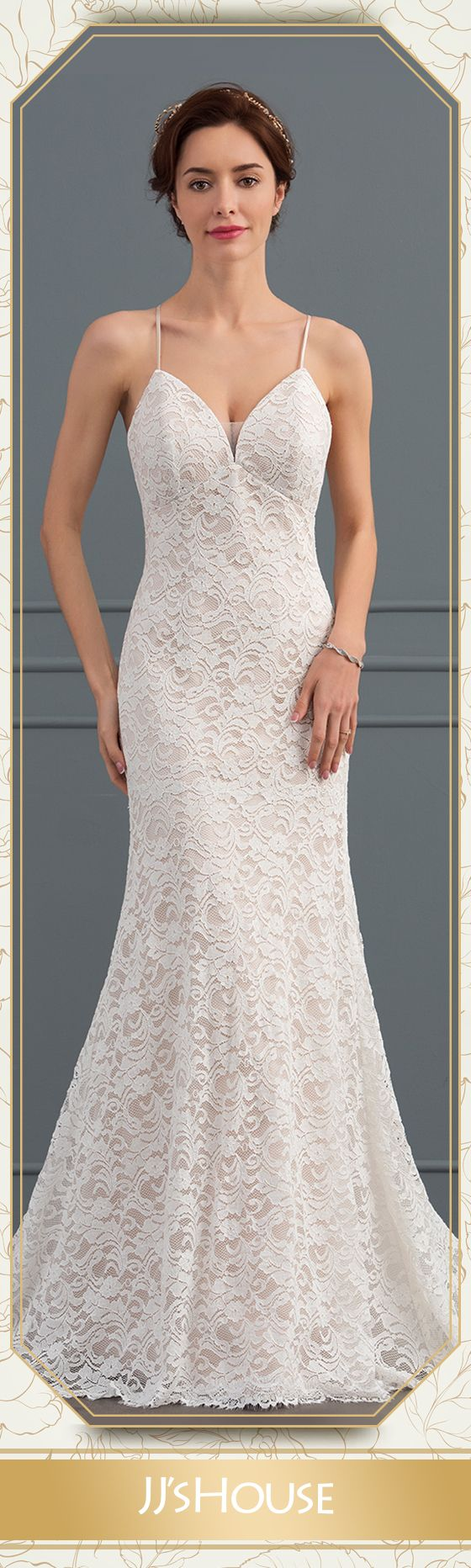 Us 206 00 Trumpet Mermaid Sweetheart Court Train Lace Wedding Dress Jj S House Wedding Dresses Lace Dresses Mermaid Sweetheart [ 1864 x 560 Pixel ]