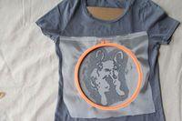 How to paint and print a t-shirt. Diy Fashionista: Screenprinted Bulldog Tee - Step 4