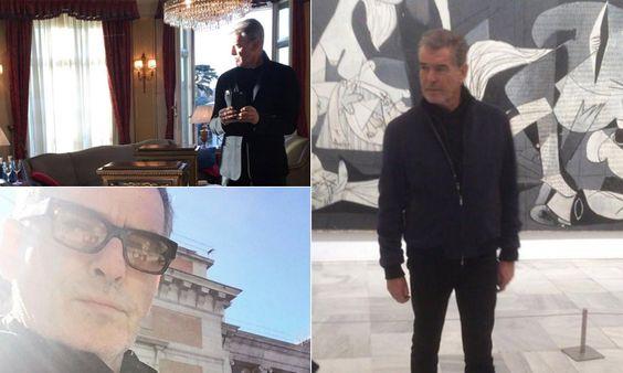 Pierce Brosnan desata la polémica mientras hace turismo por Madrid