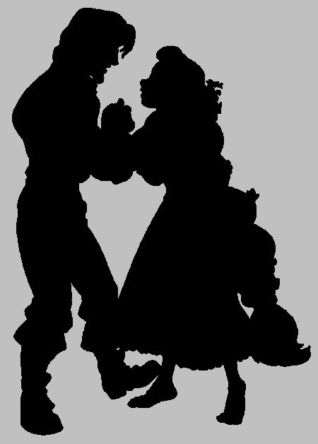 Tangled silhouette - Eugene and Rapunzel | Silhouettes ...