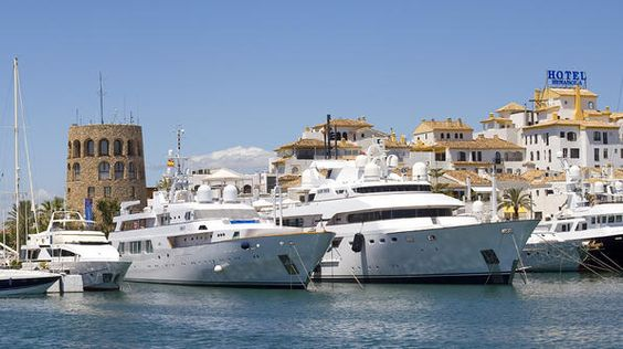 Celebrities and aristocrats favor Marbella as evidenced by the luxury cruise ships and mega yachts in its harbor. (Photo by Getty): Amazing Spaces, Favorite Places Spaces, Beautiful Spaces, Nature, Cruise Ships, Coast, Marbella, Sun, Aristocrats Favor