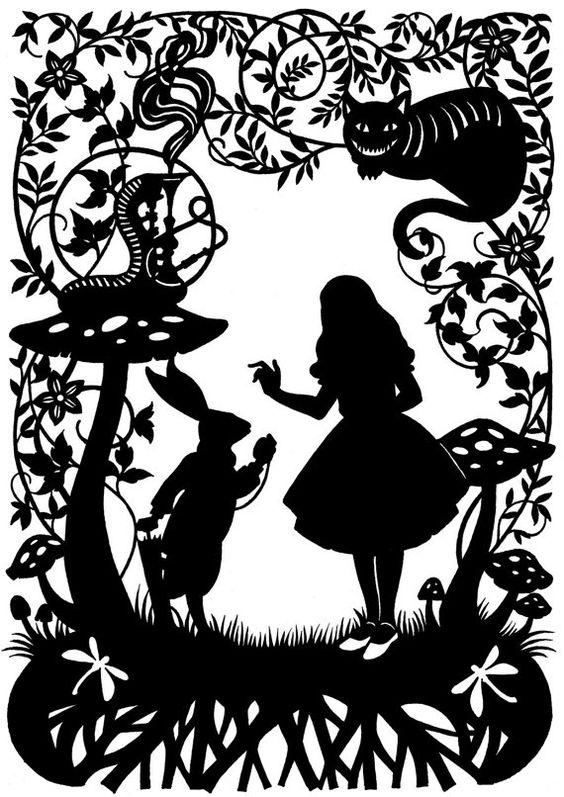 Alice au pays des merveilles d coupage du papier pays - Code de reduction alice garden ...