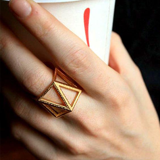 Butterscotch of Brooklyn || interlocking triangles ring