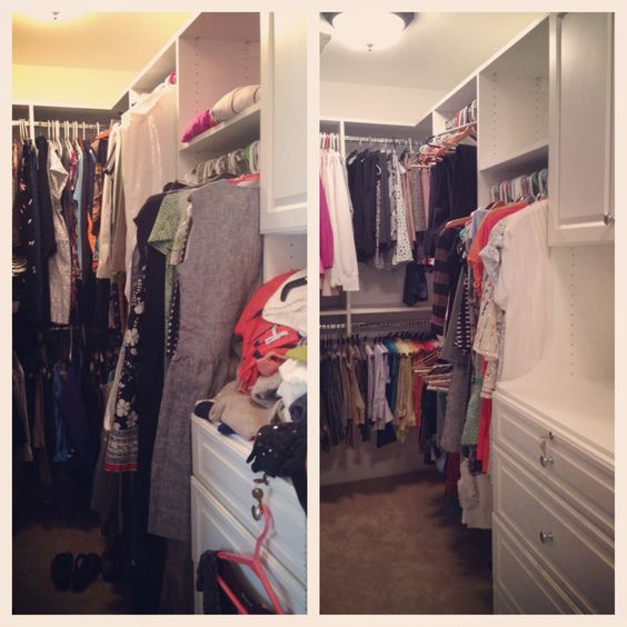 Save yourself SO MUCH TIME in the morning by #organizing your closet so that you can see everything and avoid spending time searching for your stuff!