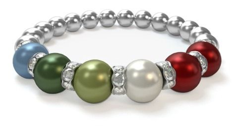Design a Mothers Bracelet in 3 easy steps. Choose from 12 birthstone colors. Featuring genuine Swarovski Pearls. Just $29.95!