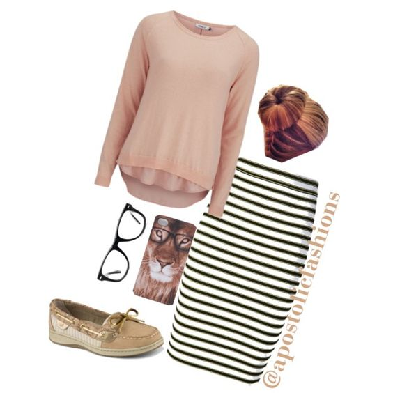 A fashion look from February 2015 featuring ONLY sweatshirts, A.L.C. skirts and Sperry Top-Sider loafers. Browse and shop related looks.:
