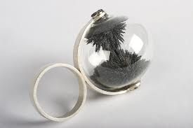 Mari-Liis Algma-RING 2012 SILVER,IRON,DUST,NEODYMIUM Magnets and glass - creative jewellery design - innovation #jewellery