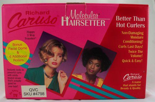 Richard Caruso Molecular Hairsetter Curlers Plus 6 Bonus Rollers Facial Dome NEW