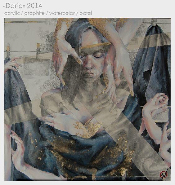"""Daria"" portrait watercolor/acrylic by Russian Anita Khrustaleva • Главная - Сайт helloiamlli! • heyhelloiamlli@gmail.com •http://vk.com/helloiamlli • https://www.facebook.com/anita.nurtdinova • https://instagram.com/helloiamlli/"