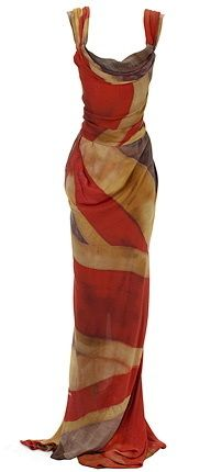 Most famous flag frock designed by Vivienne Westwood.