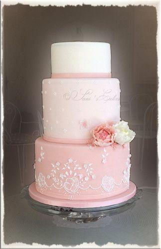 Wedding-cake-romantique shabby chic