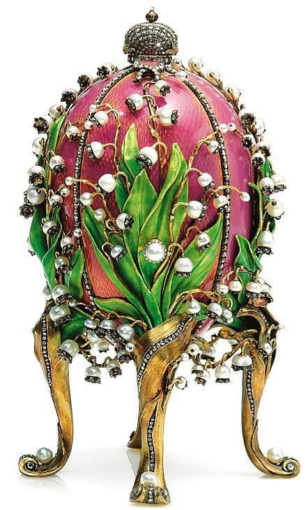 Oeuf de Fabergé  ,  au muguet  (1898):