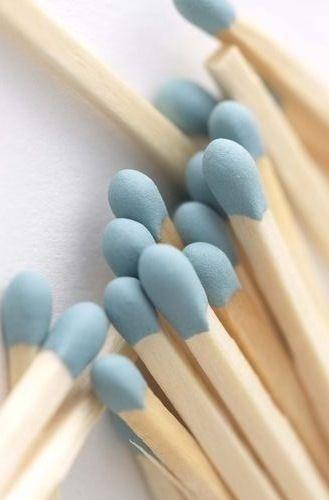 blue matchsticks