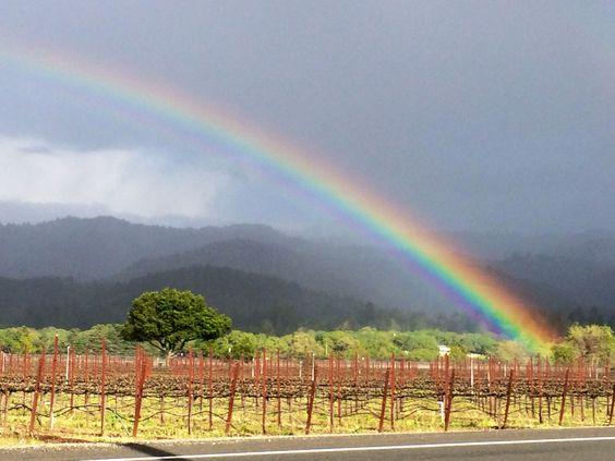 Double rainbow in Napa, courtesy of Jenn.