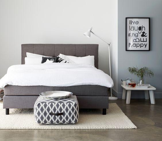 Voorbeeld van 2 persoons boxspring 160 cm antraciet bedroom pinterest met and van - Volwassen slaapkamer arrangement ...