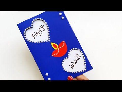 Diy Diwali Greeting Card Handmade Diwali Card Making Ideas How To Make Greeting Car Handmade Diwali Greeting Cards Diwali Card Making Diwali Greeting Cards