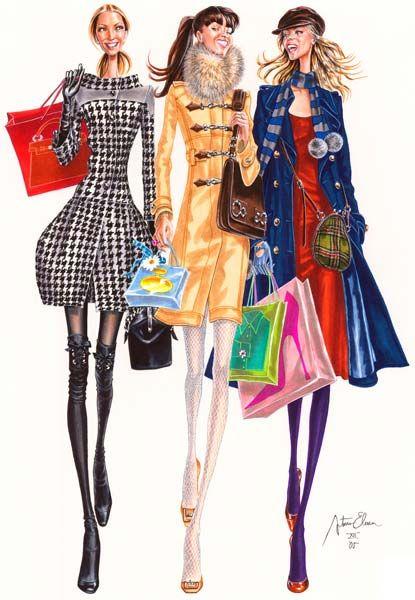 нарисованная одежда фото девушек