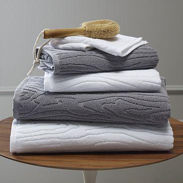 organic woodgrain towel at west elm
