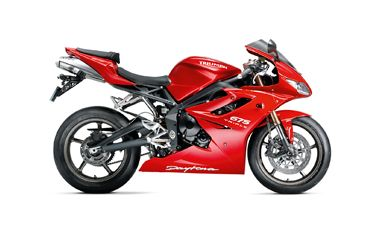 Triumph Daytona 675 in Diablo Red