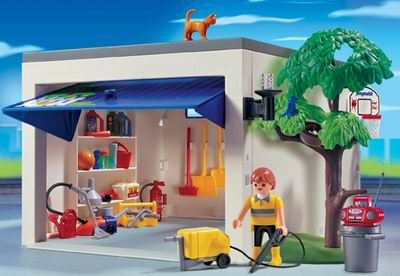 Playmobil city life car garage playmobil pinterest for Playmobil casa de lujo