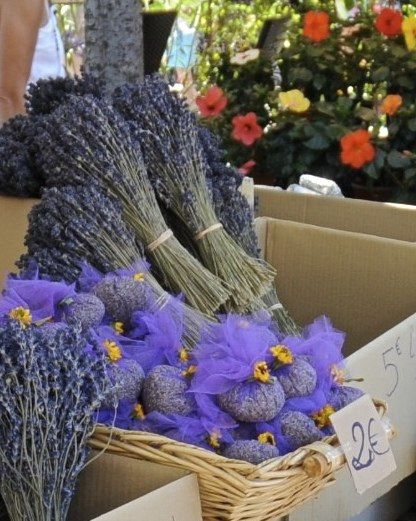 #Dry lavender bunches and bags, Nice, France - so pretty...