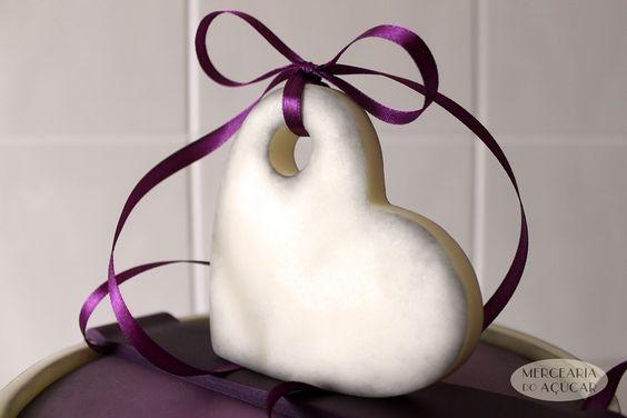 Purple Heart Cake detail - Pormenor Bolo Coração Roxo