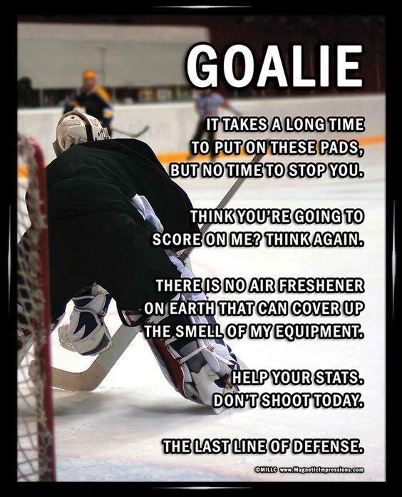 Ice Hockey Goalie On 8x10 Sport Poster Print Quote Essay