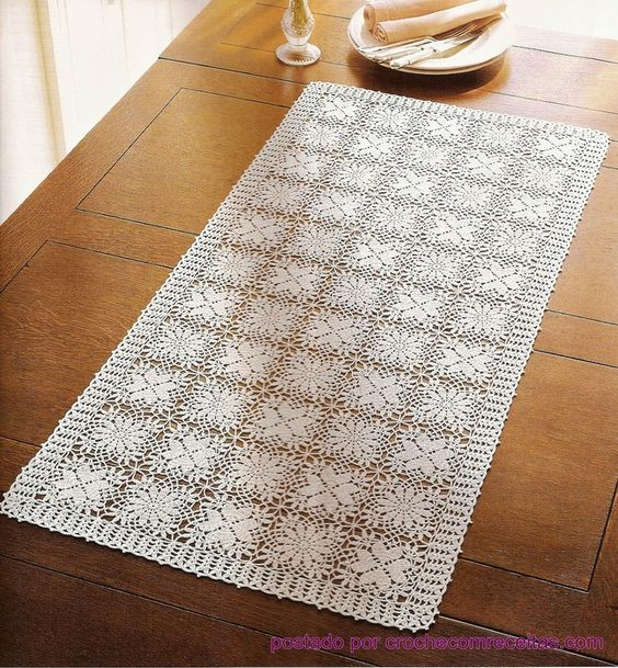 Crochet Table Runner With Diagrams I Like The Fact That