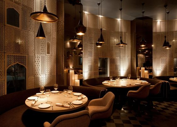 Luxury Restaurant Dining Furniture Design Hakkasan Mayfair London - innovatives decken design restaurant