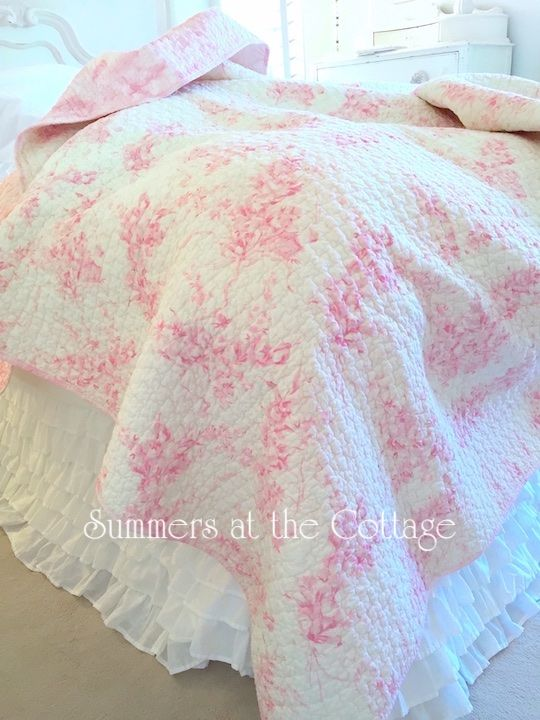 Powder Puff Pink Bouquets Of Roses, Simply Shabby Chic Bedding Rn17730