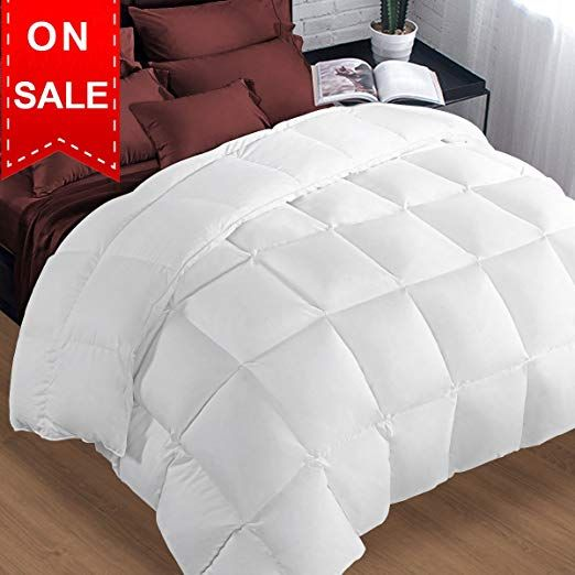Amazon Com Puredown Goose Down Comforter 600 Fill Power Cotton