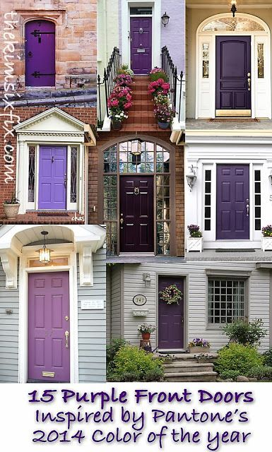 Exterior doors color trends and orchids on pinterest for Trendy front door colors