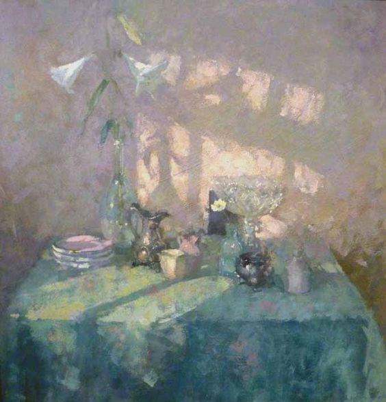 유 Still Life Brushstrokes 유 Nature Morte Painting by Jacqueline Williams | Still Life with Lilies: