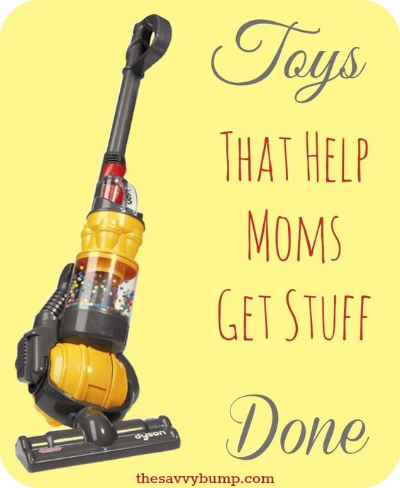 Toys are great and lots of fun but toys that help moms get stuff done are even better!