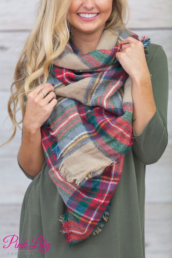 Oversized Blanket Scarf - The Pink Lily