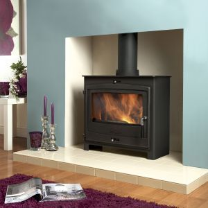 Feature Colour Chimney Breast With Wood Burner And Light Hearth Home Pinterest Wood