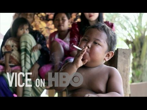 VICE/HBO first half on how american tobacco corporations hold hostage health of children in developing countries.