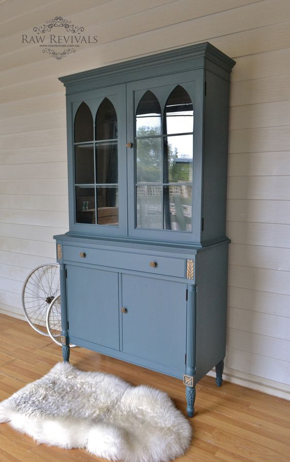 This vintage cabinet has been painted in fusion mineral for Furniture repair homestead