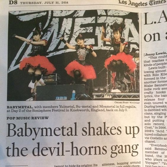 Babymetal shaks up the devil-horns gang  - Los Angeles Times