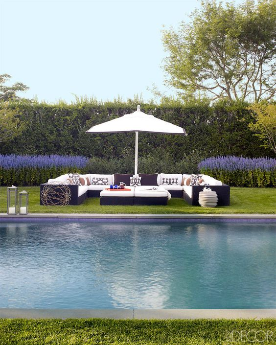 Pool Ideas | Landscaping Inspiration | Holly Peterson | Hamptons NY | Beach House | Coastal Home | Interior Design: