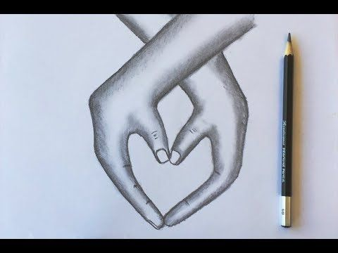 How To Draw Lovely Hands With Pencil Sketch Easy Step By Step Youtube Pencil Sketches Easy Love Sketches Easy Easy Drawings Sketches