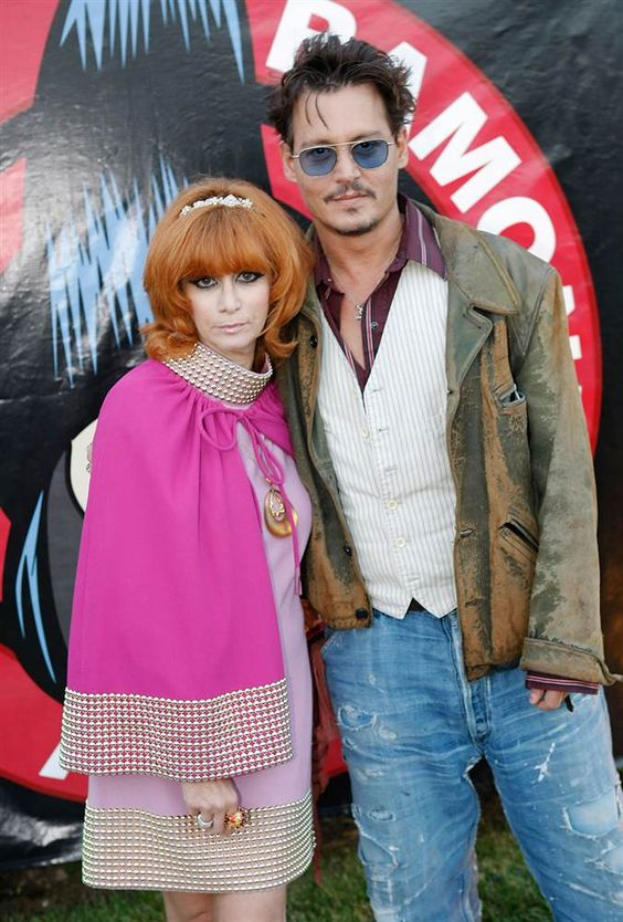 Linda Ramone, wife of the late punk legend Johnny Ramone, and actor Johnny Depp attend the 9th Annual Johnny Ramone Tribute at Hollywood For...