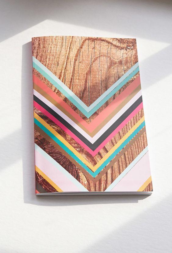 Giving Journals Chevron Print Lined Journal   Forever 21 - 1000077757
