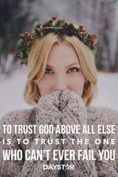 To trust....