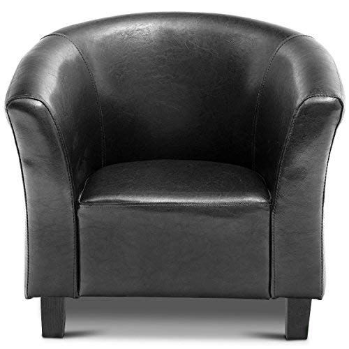 Costzon Kids Sofa Tub Chair Couch Children Living Room Toddler Furniture Pu Leather Black Toddler Furniture Kids Sofa Toddler Rooms