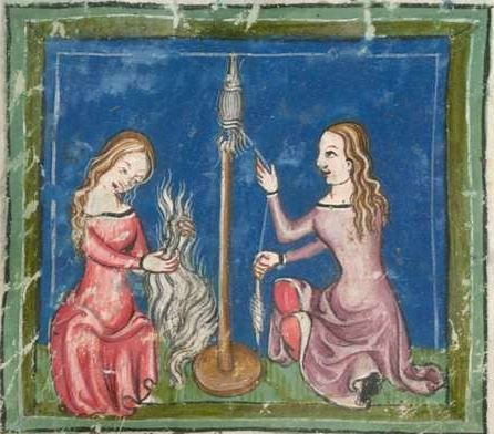 Rudolf / Jansen Enikel, Jans: Weltchronik in Versen - Mischhandschrift aus Christ-herre-Chronik um 1370 Cgm 5 Folio 17v: