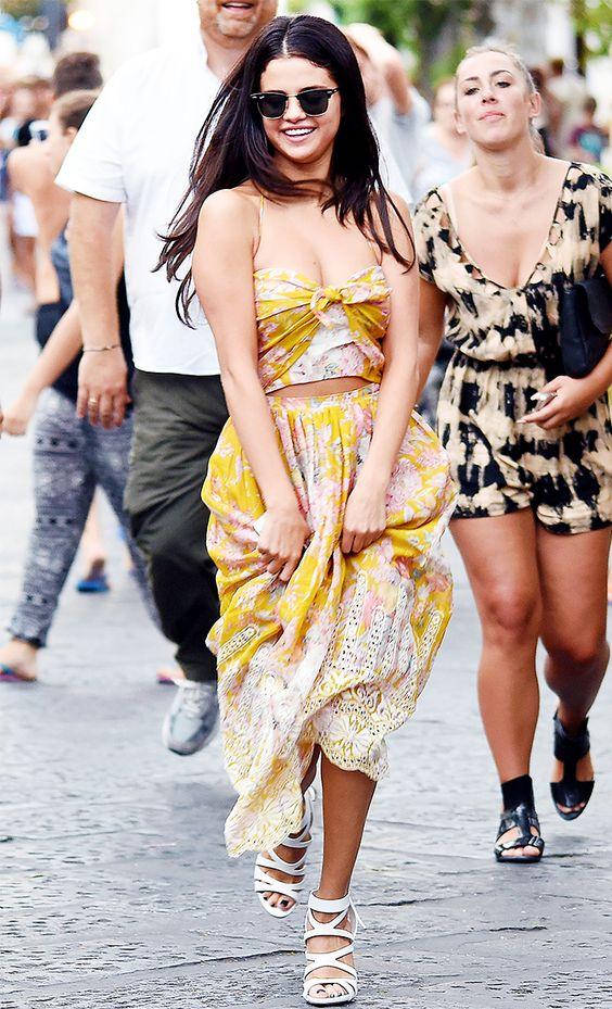 f f floral maxi dress on selena