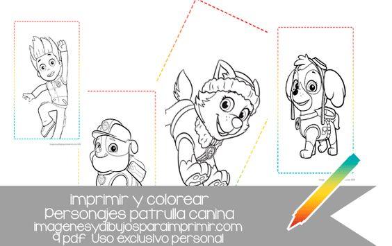 ahora puedes colorear a los personajes de patrulla canina ...
